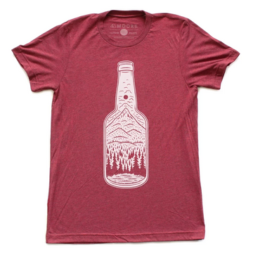 Unisex Moore Collection Bottle Tee, red