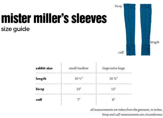 Men's rabbit Mister Miller's Arm Sleeves