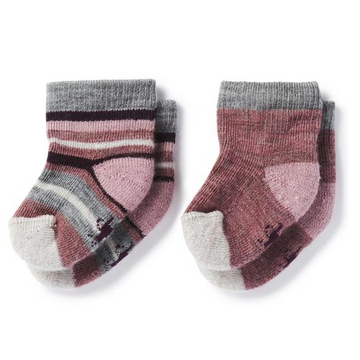 Smartwool Baby Bootie Batch Socks - Pink + Grey