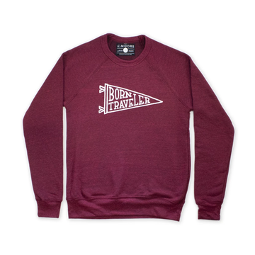 Moore Collection Born Traveler Crewneck Sweater, red