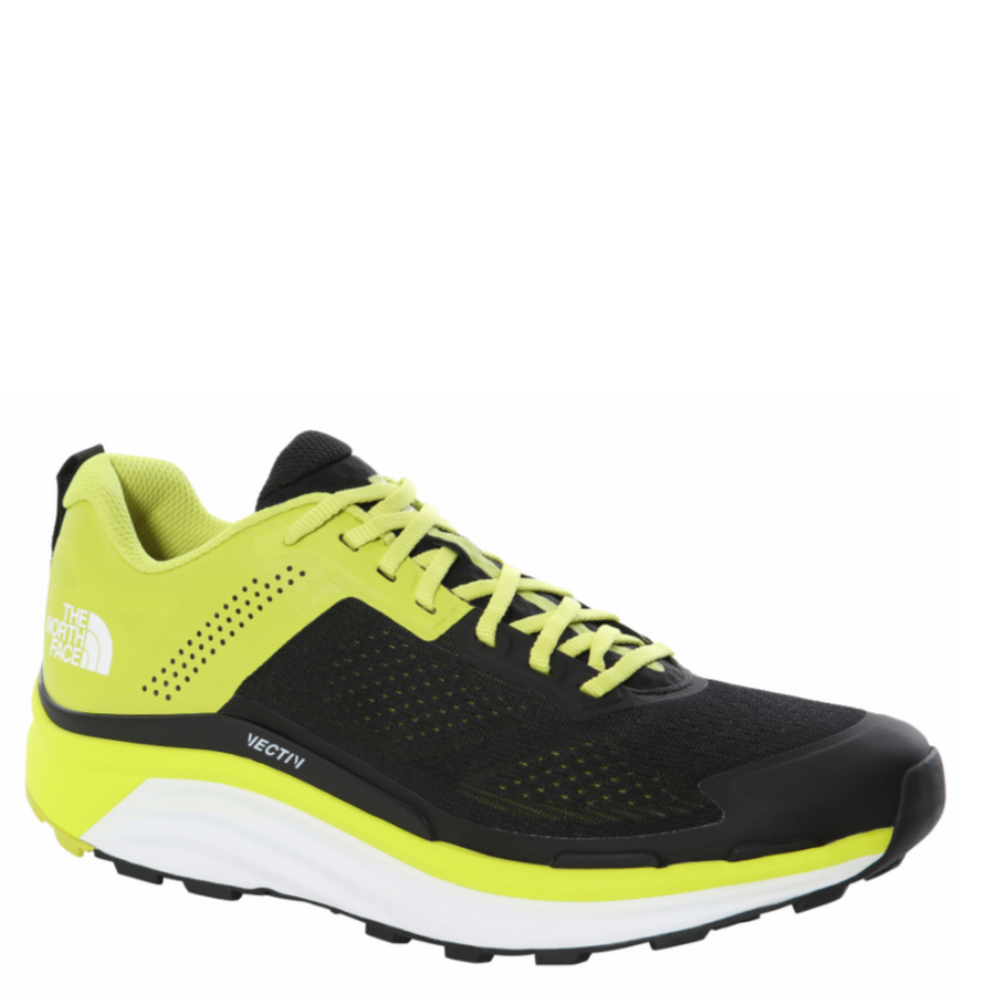 Men's The North Face VECTIV Enduris Trail Running Shoe in Green and Black