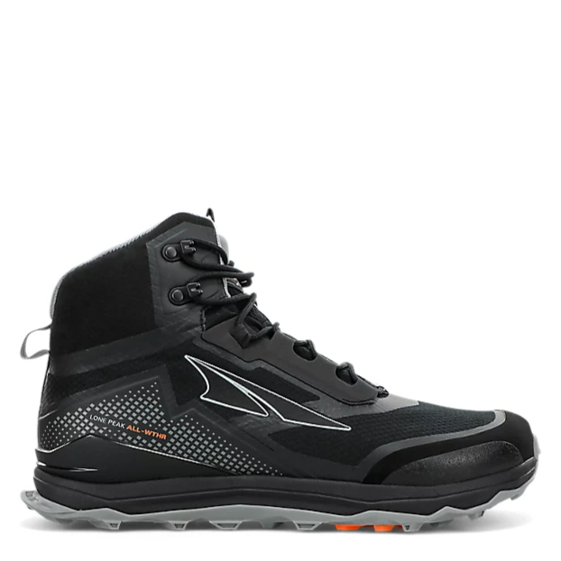Men's Altra Lone Peak All Weather Mid Hiking Shoe in Black