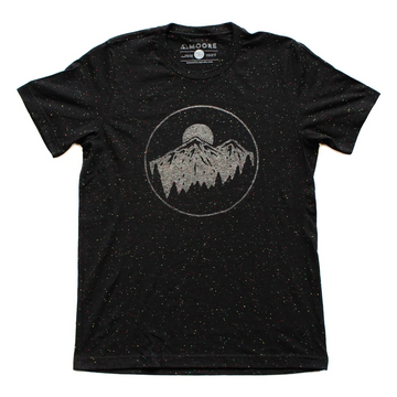 Moore Collection Night Sky Tee, Black with multicolor speckles