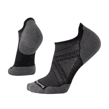 Men's Smartwool PhD® Run Light Elite Micro Sock - Grey + Black