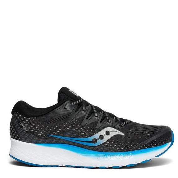 Men's Saucony Ride ISO 2 Running Shoe, black, side view