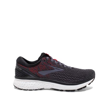 Men's Brooks Ghost 11 Black + Red Running Shoe