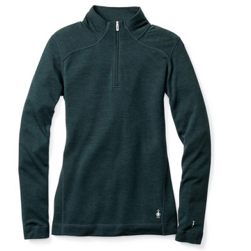 Women's Smartwool Merino 250 Base Layer 1/4 Zip - Lochness Heather
