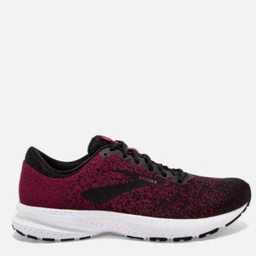 Men's Brooks Launch 6 Running Shoe, burgundy and black, side view