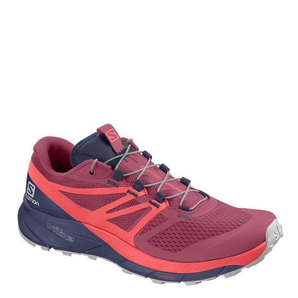 Women's Salomon Sense Ride 2 Trail Running Shoe, pink, side view