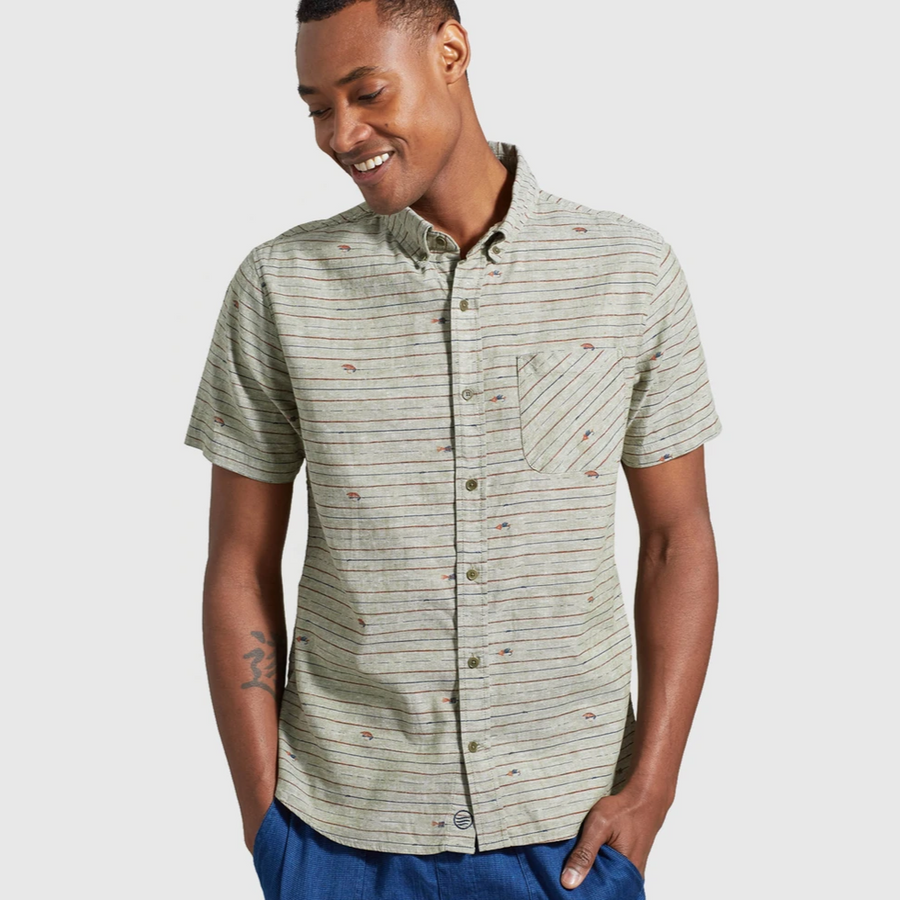 Men's United by Blue SoftHemp™ Chambray Short Sleeve Button Down