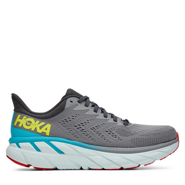 Men's Hoka Clifton 7 Running Shoe in Grey