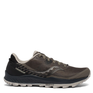 Men's Saucony Peregrine 11 Trail Running Shoe in Gravel