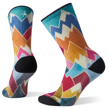 Women's Smartwool Hike Light Mountain Print Crew Sock