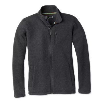 Men's Smartwool Hudson Trail Fleece Full Zip Jacket in Charcoal