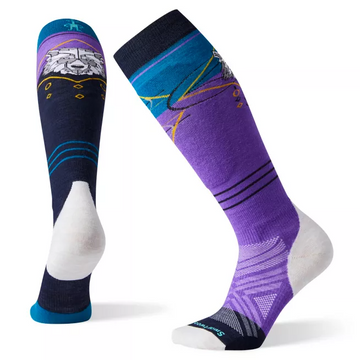 Women's Smartwool PhD® Pro Freeski Sock in Purple