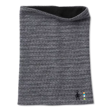 Smartwool Merino 250 Reversible Pattern Neck Gaiter in Grey Tick Stitch