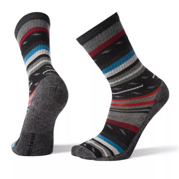 Men's Smartwool Margarita Light Hiking Crew Sock in black