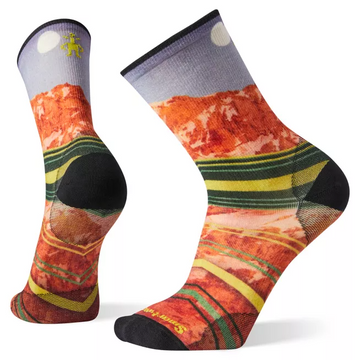 Smartwool PhD® Outdoor Ultra Light Moon Over Mountain Print Crew Sock