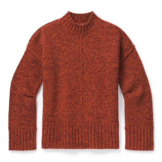 Women's Smartwool Bell Meadow Sweater in Woodsmoke
