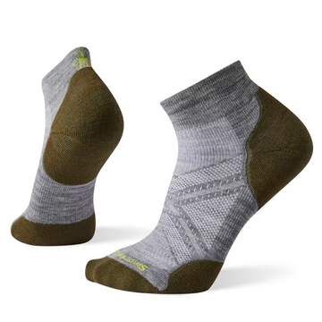 Men's Smartwool PhD® Run Light Elite Low Cut Socks in Grey
