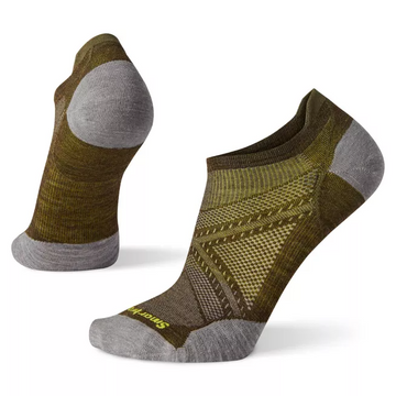 Men's Smartwool PhD® Run Ultra Light Micro Sock in Military Olive