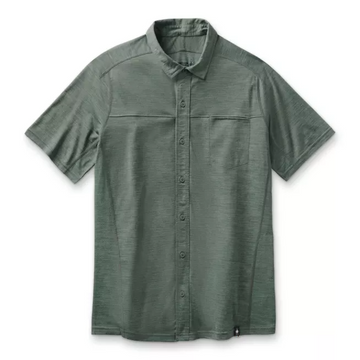 Men's Smartwool Merino Sport 150 Short Sleeve Button Down in Sage Green