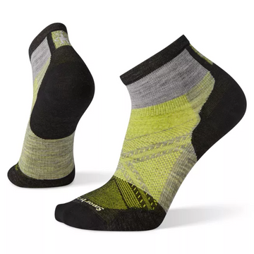 Men's Smartwool PhD Cycle Ultra Light Pattern Mini Sock in Grey