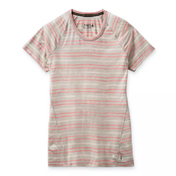 Women's Smartwool Merino 150 Base Layer Short Sleeve in Ash Stripe