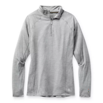 Women's Smartwool Merino 150 Baselayer 1/4 Zip in Light Grey