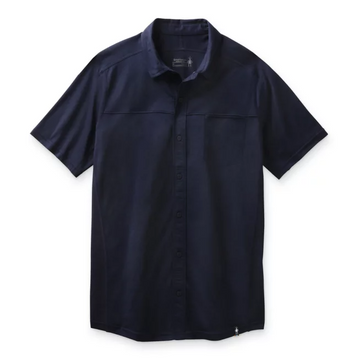 Men's Smartwool Merino Sport 150 Short Sleeve Button Down in Navy