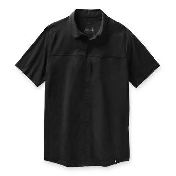 Men's Smartwool Merino Sport 150 Short Sleeve Button Down in Black