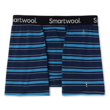 Men's Smartwool Merino 150 Boxer Brief in Navy Stripe