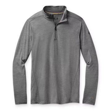 Men's Smartwool Merino 150 Baselayer 1/4 Zip in Grey