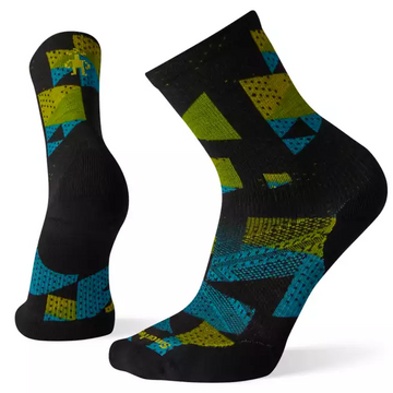Men's Smartwool PhD® Run Light Elite Print Crew Sock