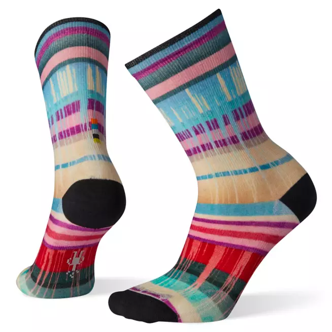 Women's Smartwool Curated Drippy Stripes Crew Sock