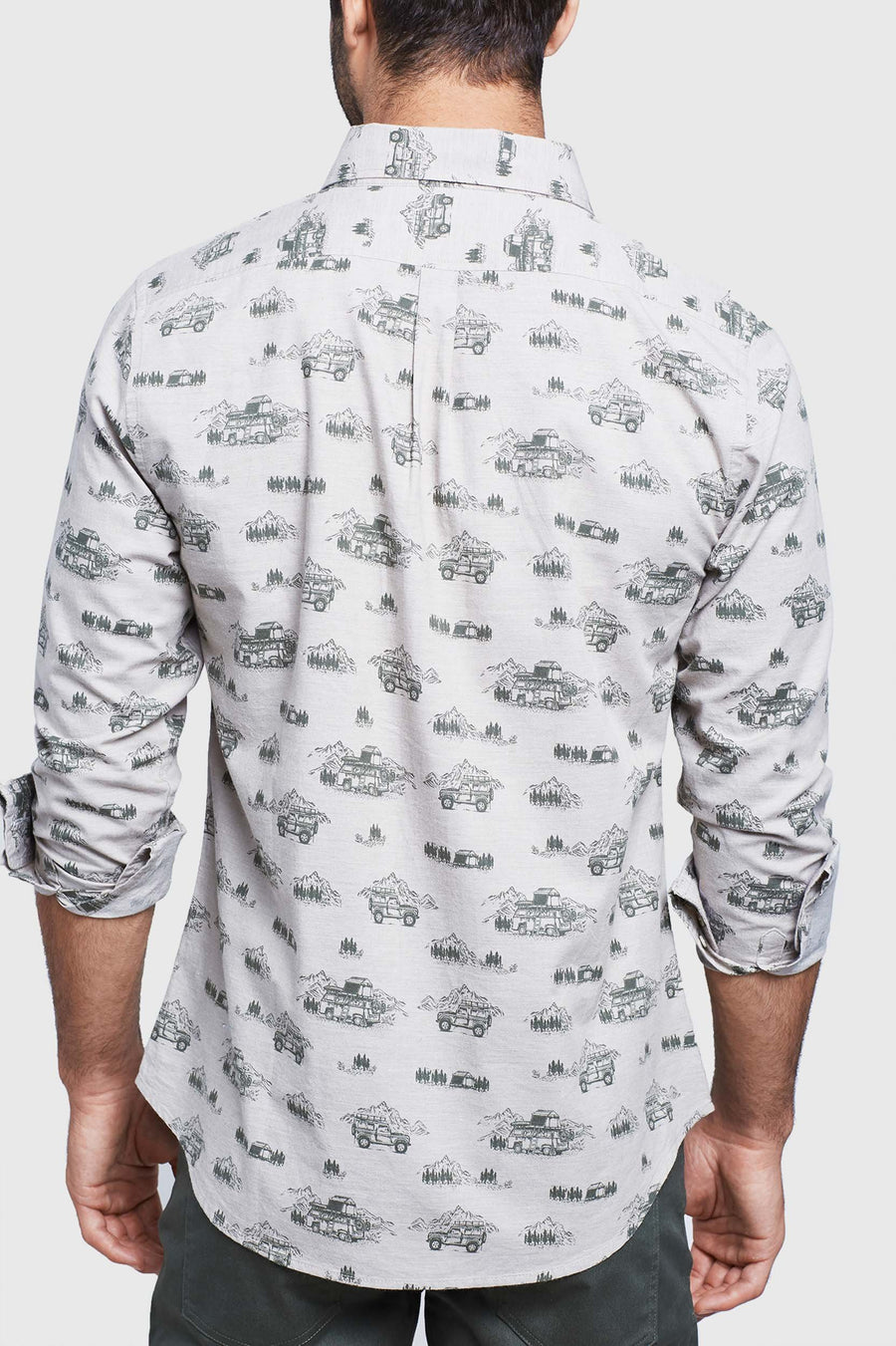 Men's United By Blue Outpost Printed Button Down