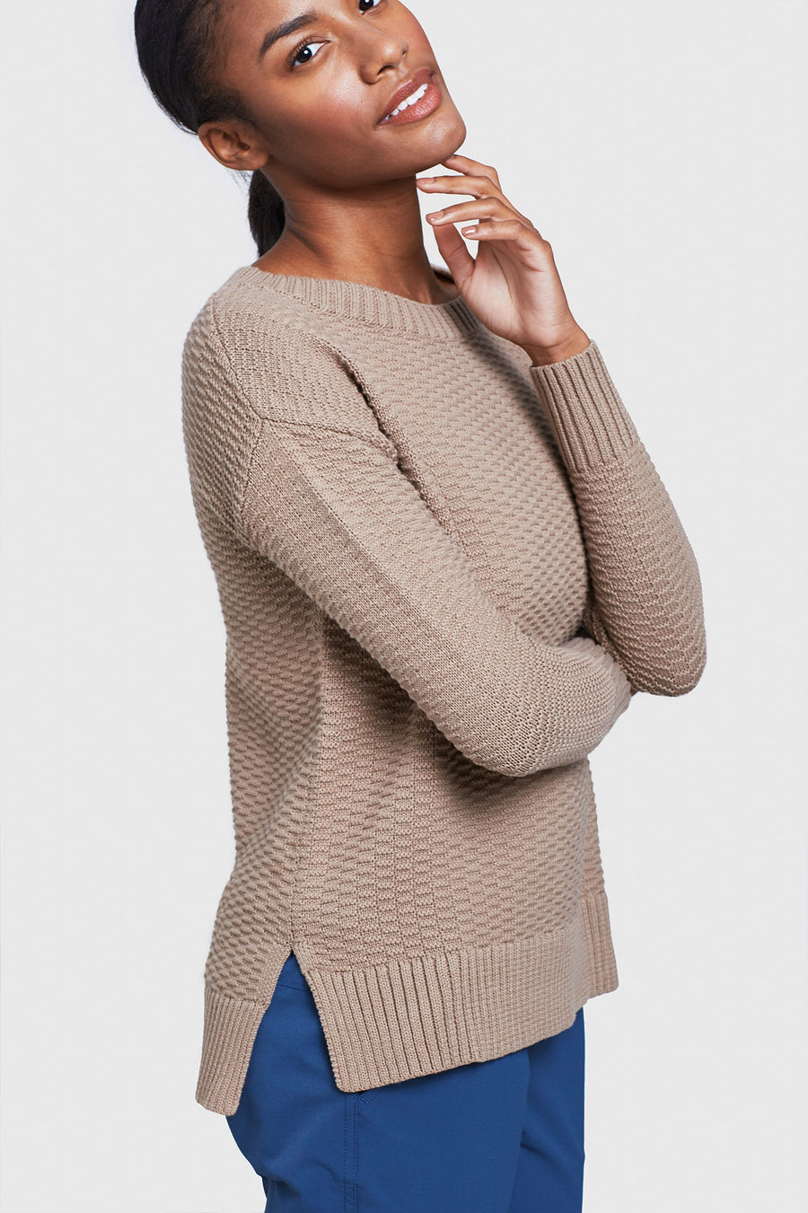 Women's United by Blue Himley Waffle Sweater