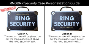 THE RING LEGEND Personalizable Ring Security Case for Ring Bearer