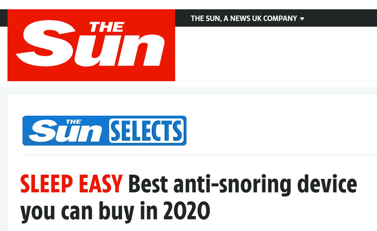 The Sun - Best anti snoring device you can buy in 2020
