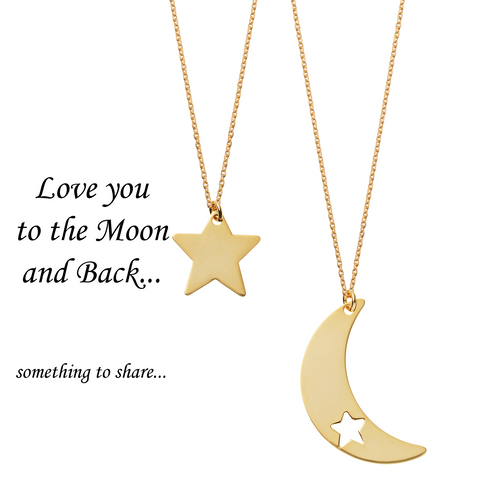 Love You to the Moon and Back <br> Necklaces Gold Plated