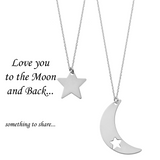 Love You to the Moon and Back <br> Necklaces Silver