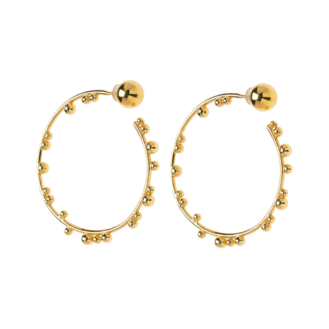 Element Hoops Gold Plated