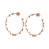 Element Hoops Pink Gold Plated