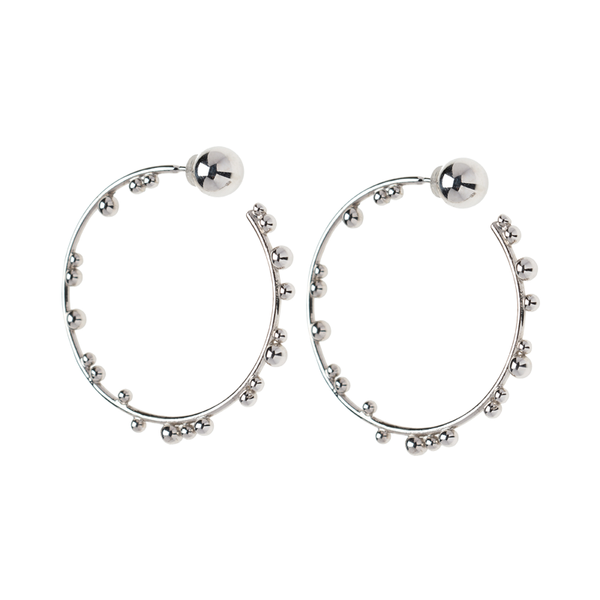 Element Hoops Silver