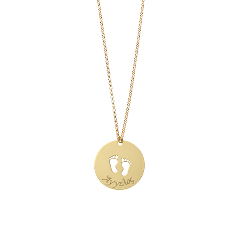 Footprints Personalized Long Necklace