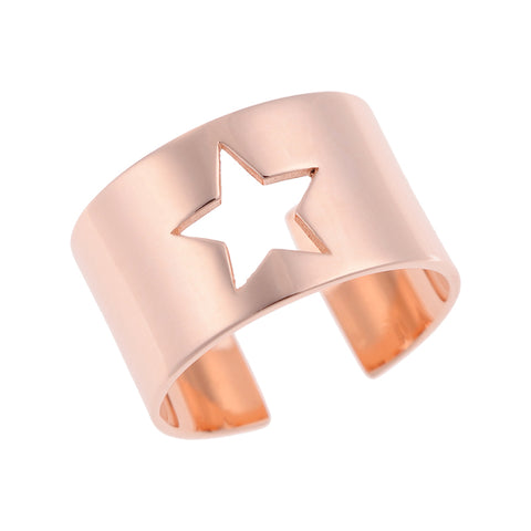 Star Ring Pink Gold Plated