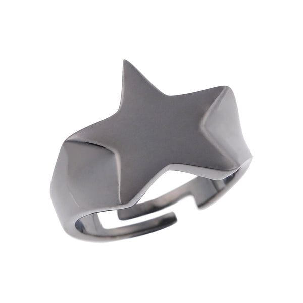 Love Stars Ring <br> Black Plated