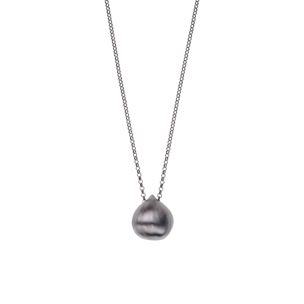 Chestnut Small Necklace <br> Black Plated