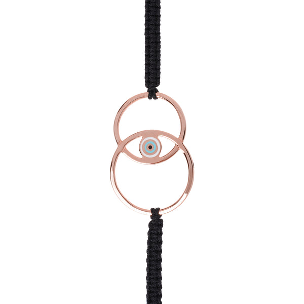 Eyes On You Bracelet Pink Gold Plated