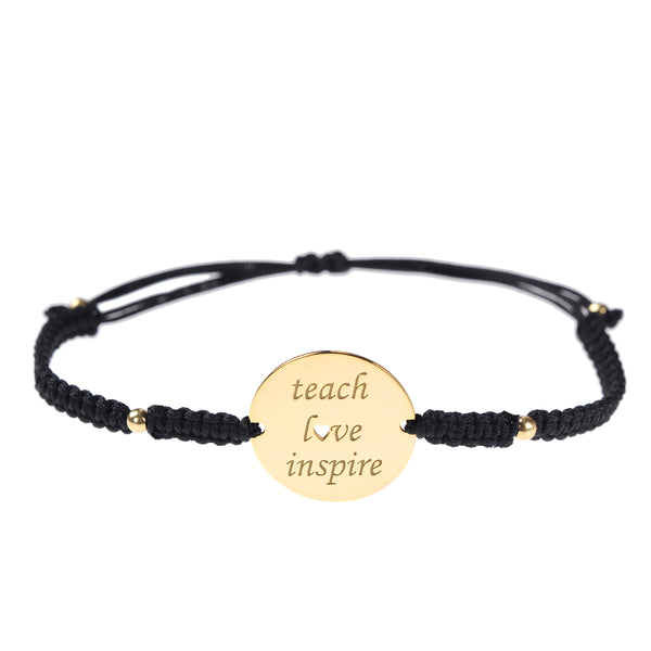 Teach Love Inspire Bracelet <br> Gold Plated